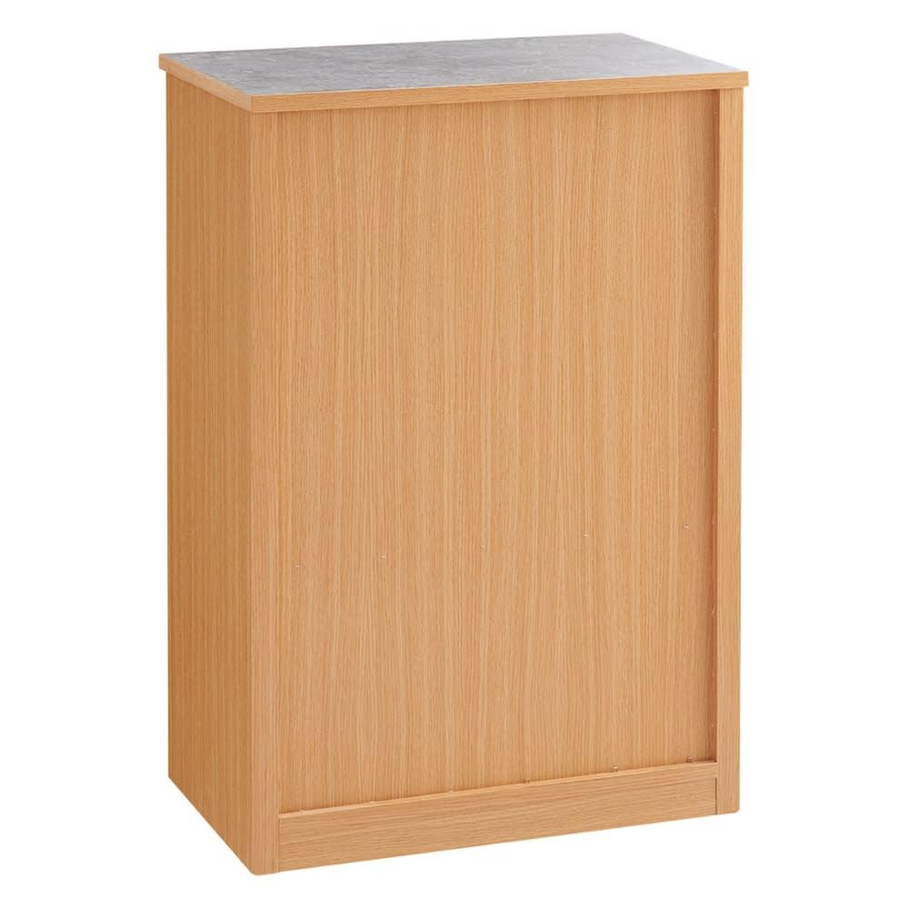 組み合わせ自由な大理石調天板キッチンカウンター ウォルナット 幅60cmチェスト (背面)美しい背面化粧仕上げなので対面カウンターとしても使えます。※お届けはウォルナットタイプです。