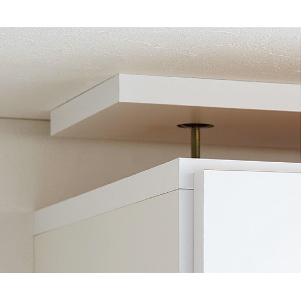 シンプルラインダイニングボードシリーズ 上置き幅59.5cm ロータイプ(高さ47.5cm) 上置きは、面で支える安心構造の、天井突っ張り式。