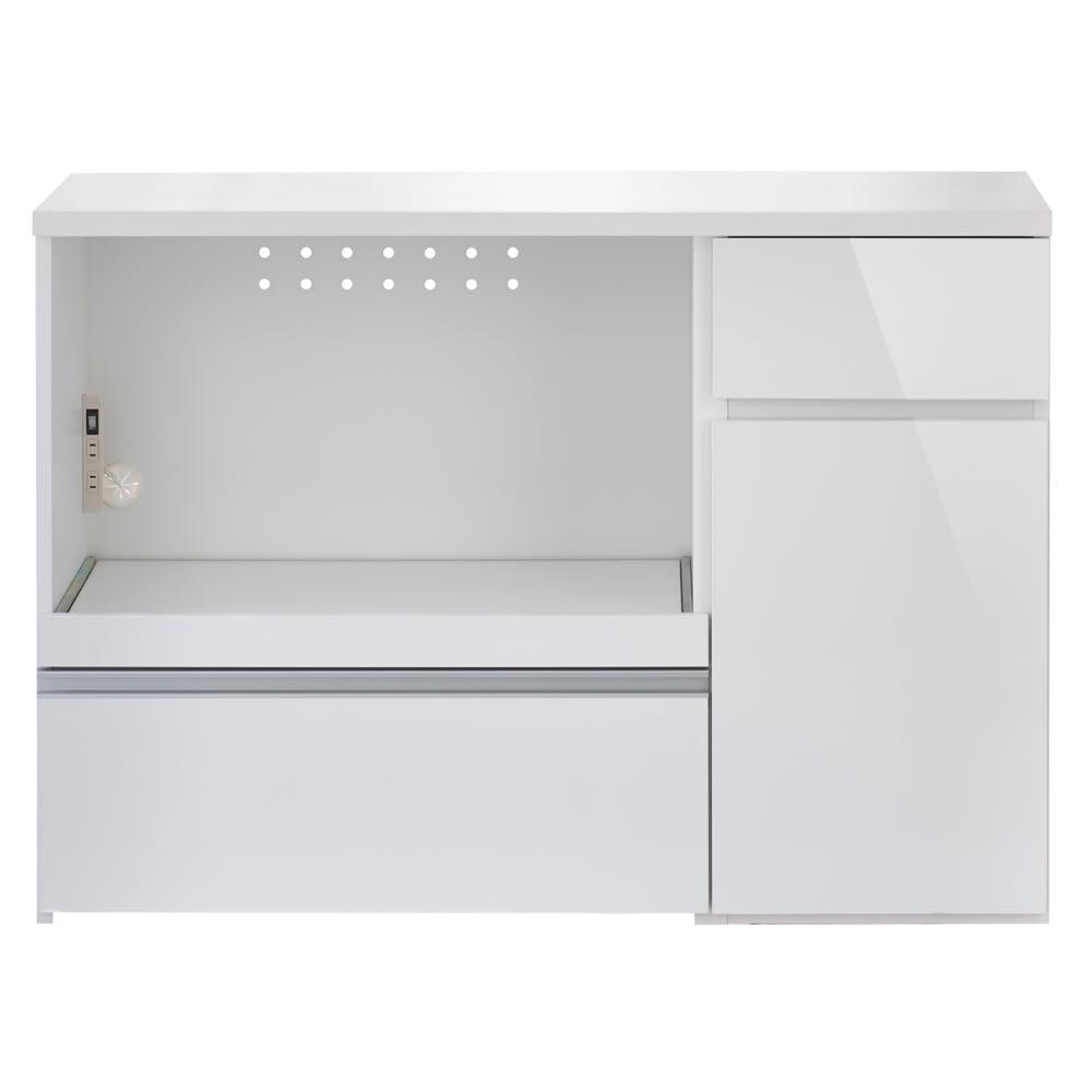 サイズが選べる家電収納キッチンカウンター ロータイプ 幅120cm (ア)ホワイト ※お届けは【 ロータイプ 幅120cm】です。