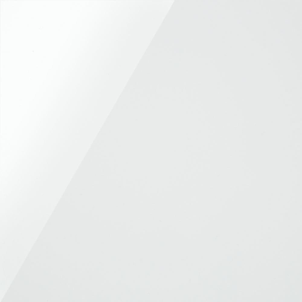 サイズが選べる家電収納キッチンカウンター ハイタイプ 幅120cm (ア)ホワイト 清潔感のある光沢の白色で、キッチンが明るい印象に。