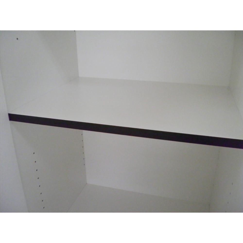 組立不要!家電を隠せるキッチン収納シリーズ 食器棚幅59.5cm 固定棚サイズ:幅 55.5 奥行 41.5 厚さ 2cm