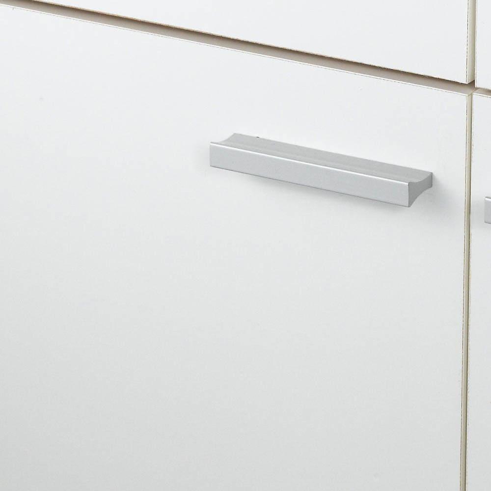 家電たっぷり収納ステンレス天板カウンター 幅149.5cm (ア)ホワイト