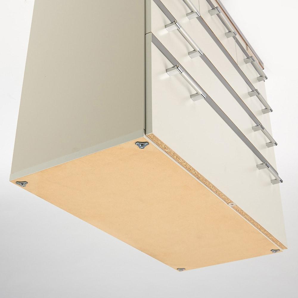 収納しやすいステンレストップカウンター ハイタイプ幅118cm