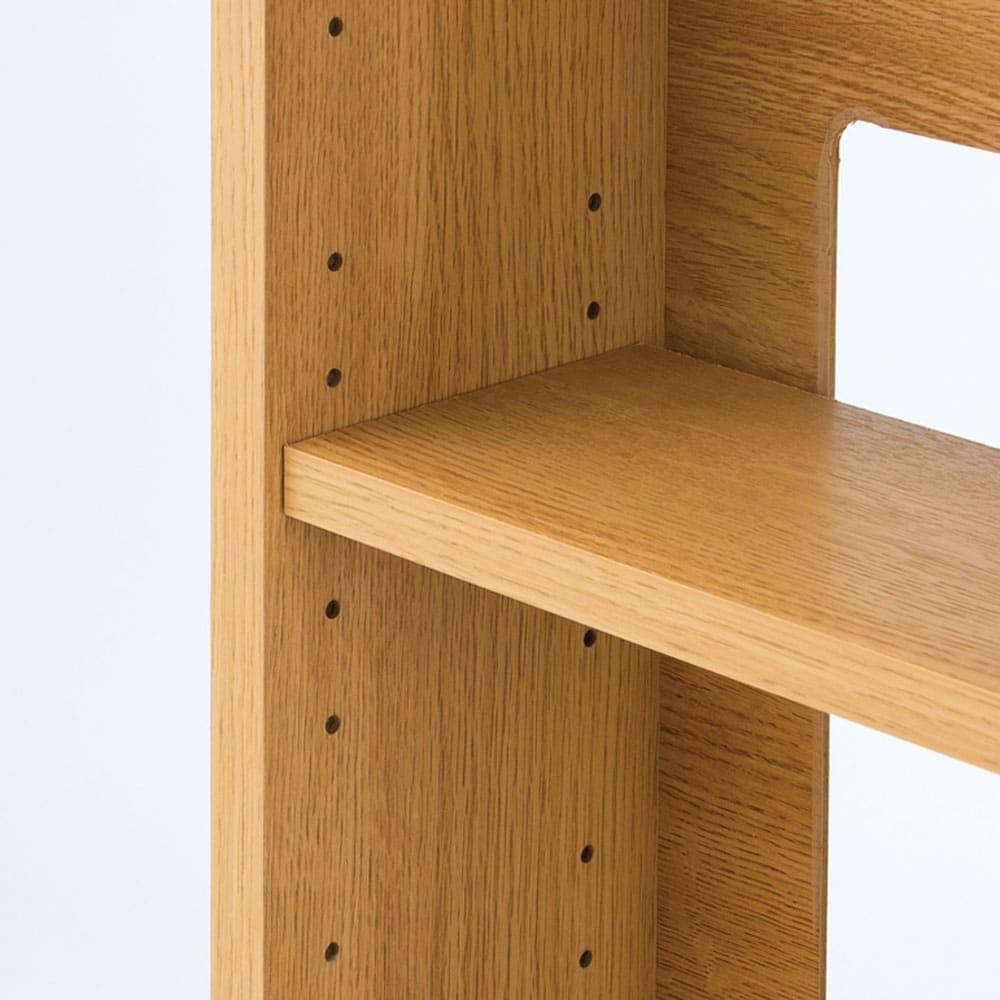 オークカウンター下収納庫 奥行22高さ85cm 引き戸・幅150cm 引き戸タイプの棚板は可動式。