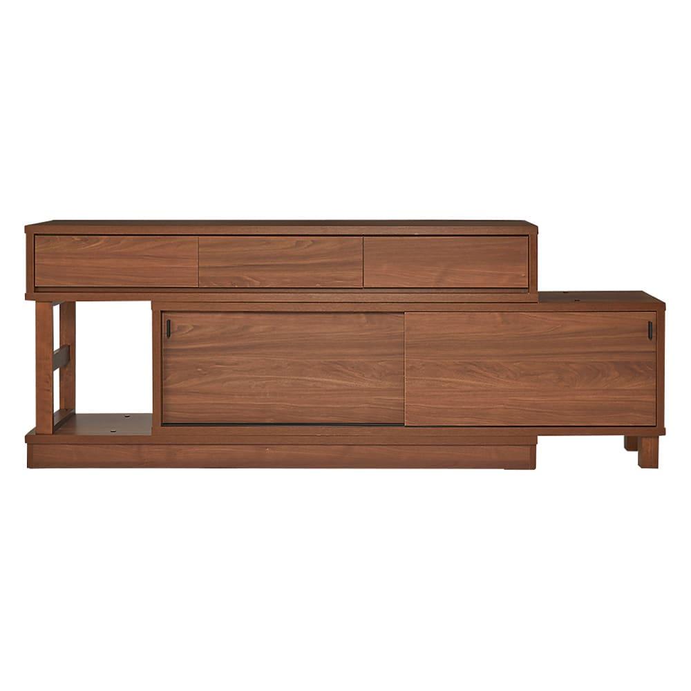 伸長式カウンター下収納庫 幅160~260cm・高さ72cm 好みに合わせて左右の組み替えができて、模様替えも楽しめます。