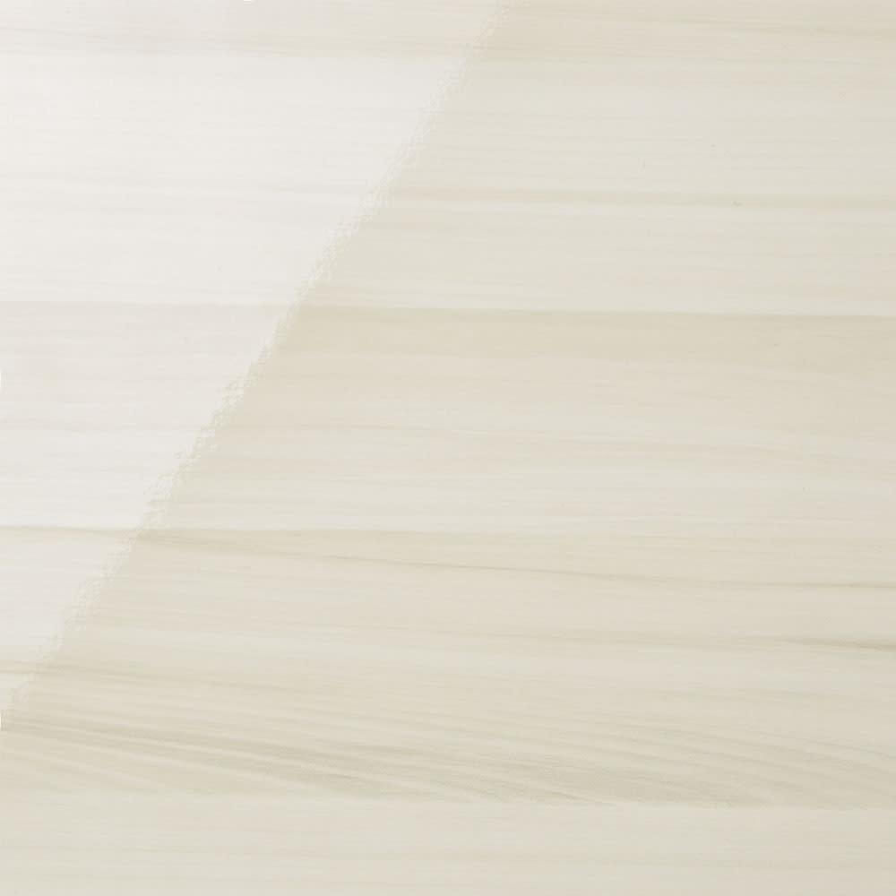 スクエア光沢木目カウンター下収納  引き出し 幅25~45cm(1cm単位オーダー)奥行29cm (ア)ホワイト 繊細な白い木目模様が、お部屋に美しく溶け込みます。