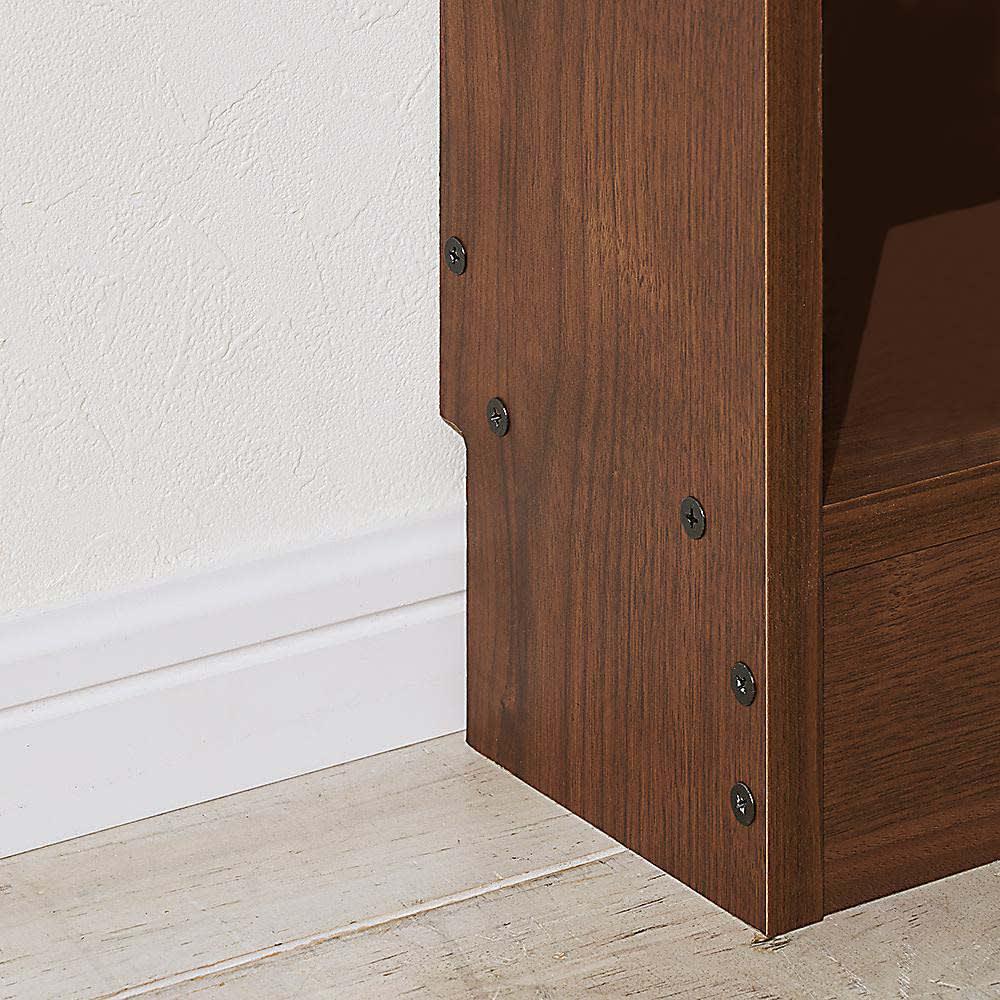 高さサイズオーダー奥行15cmオープンカウンター 4列 幅178高さ60~100cm 幅木カット(8×1cm)付きなので壁にぴったり設置できます。