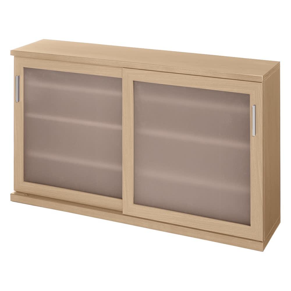 ほんのり透けるカウンターシリーズ 引き戸 幅120cm (ア)ナチュラルオーク ※写真は高さ70cmタイプ