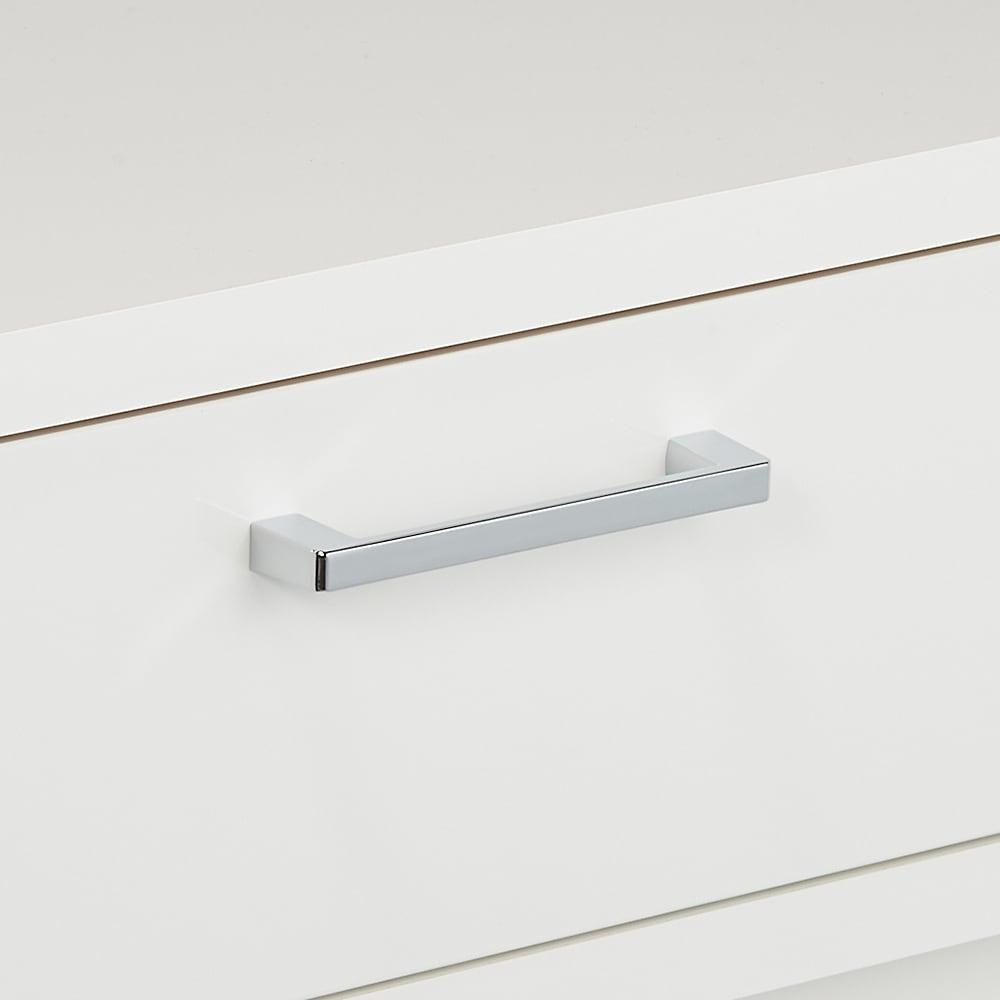 お部屋にぴったりが選べる高さサイズオーダー引き出し付き収納庫 引き出し 幅45奥行30cm高さ70~100cm 取っ手は高級感のあるアルミ製。