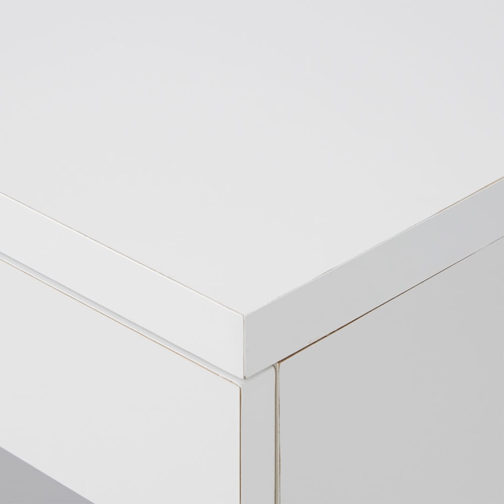 オープン棚付きカウンター下収納庫 3枚扉 《幅90cm・奥行20cm・高さ71~100cm/高さ1cm単位オーダー》 (ア)ホワイト 白はお手持ちの家具に合わせやすく、清潔感も◎
