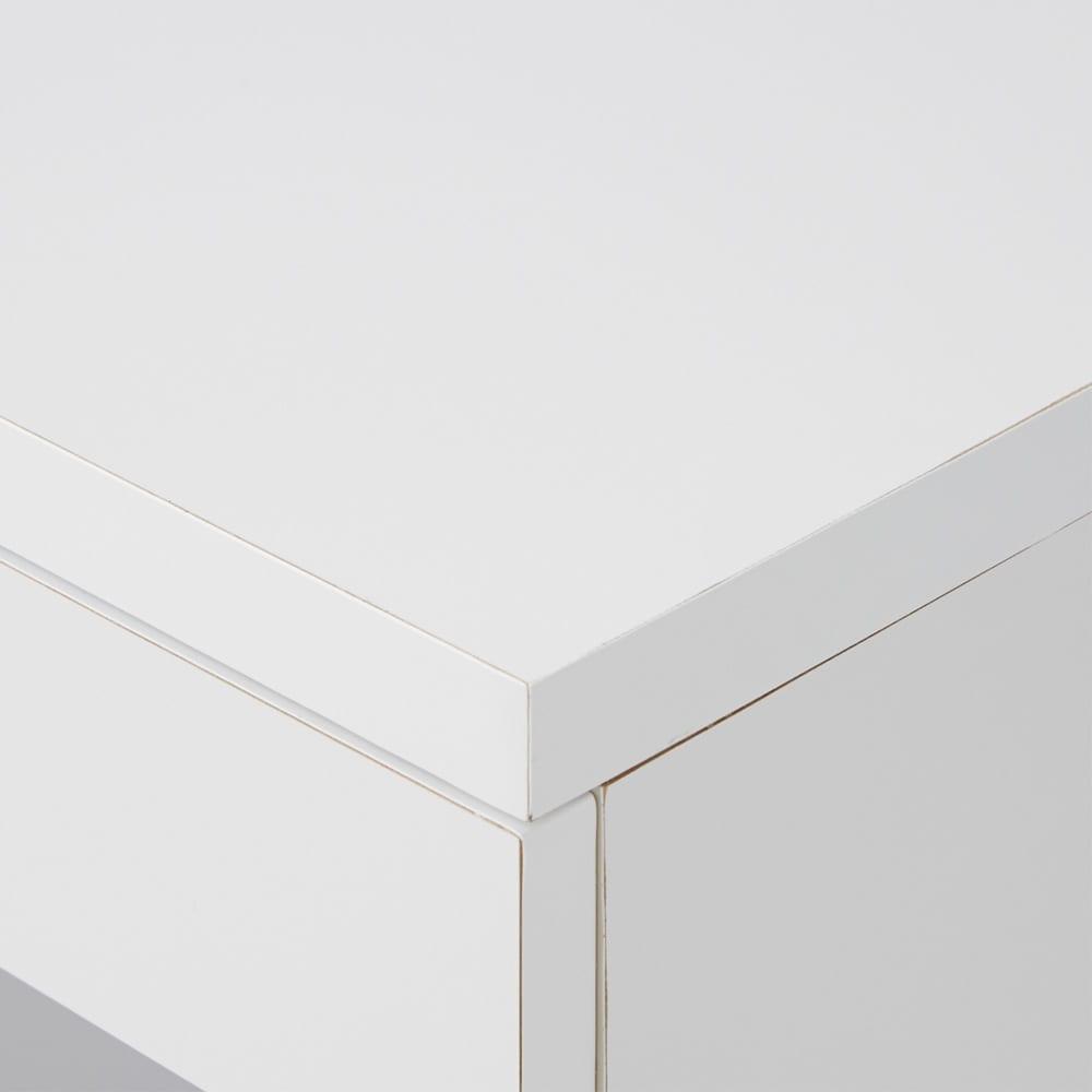 オープン棚付きカウンター下収納庫 チェスト 《幅45cm・奥行30cm・高さ71~100cm/高さ1cm単位オーダー》 (ア)ホワイト(ア)ホワイト 白はお手持ちの家具に合わせやすく、清潔感も◎