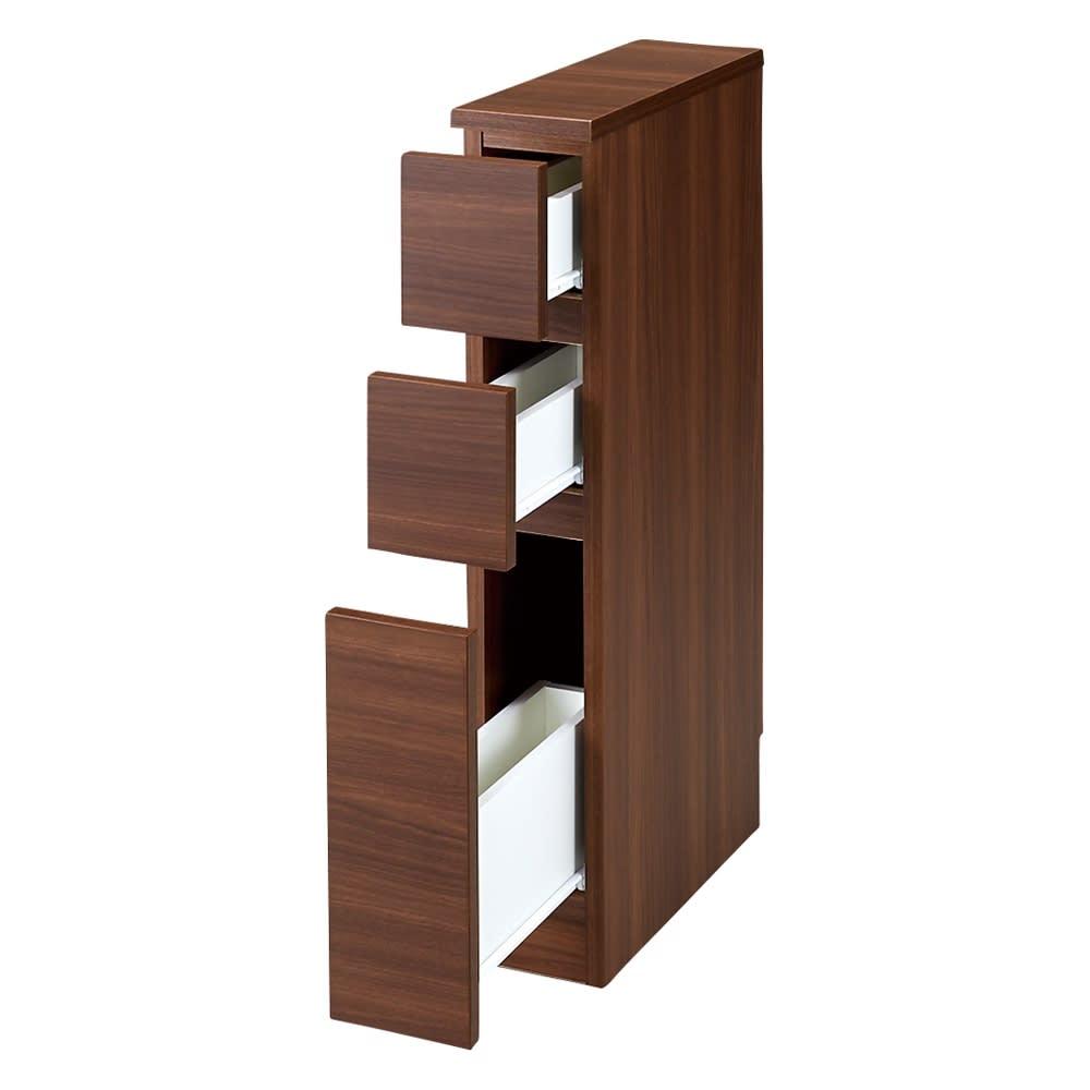 家具 収納 キッチン収納 食器棚 キッチン隙間収納 幅25奥行45高さ85cm(組立不要!幅1cm単位で124サイズから選べるすき間収納庫 ロータイプ) 550211