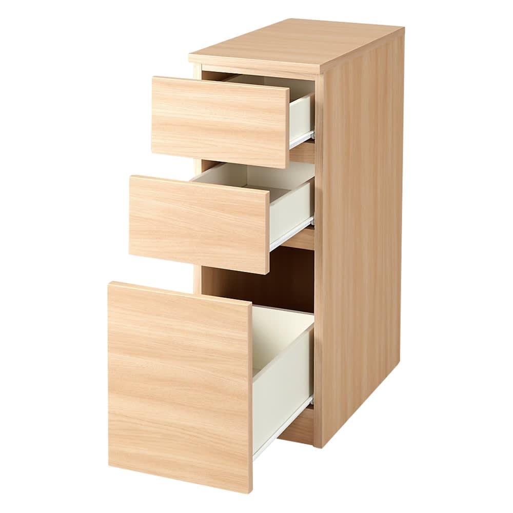 家具 収納 キッチン収納 食器棚 キッチン隙間収納 幅42奥行55高さ85cm(組立不要!幅1cm単位で124サイズから選べるすき間収納庫 ロータイプ) 550259