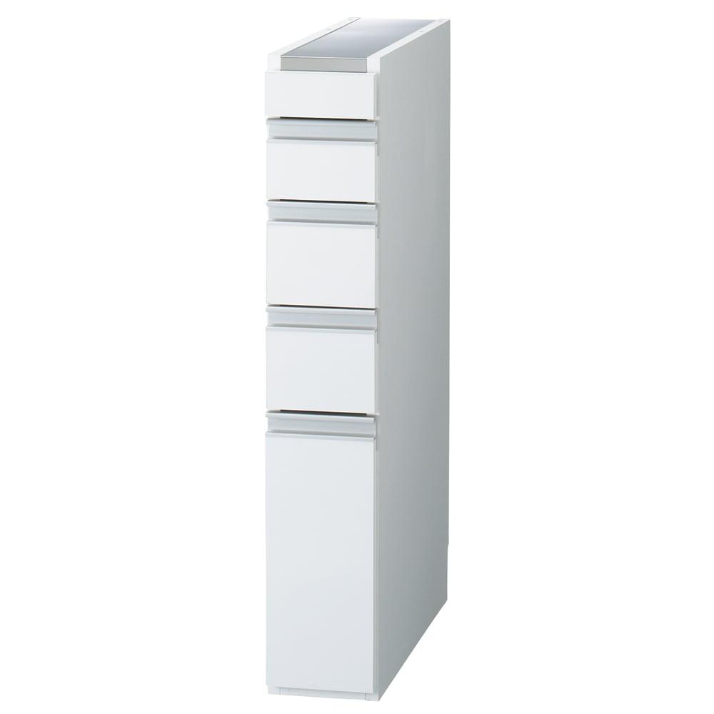 家具 収納 キッチン収納 食器棚 キッチン隙間収納 光沢仕上げダブルステンレス天板すき間収納庫 ロータイプ高さ85cm 幅15cm 550437