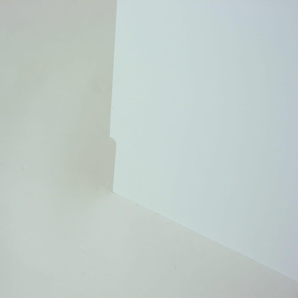 光沢仕上げダブルステンレス天板すき間収納庫 ロータイプ高さ85cm 幅15cm 幅木避けカットで壁にぴったり設置できます!!