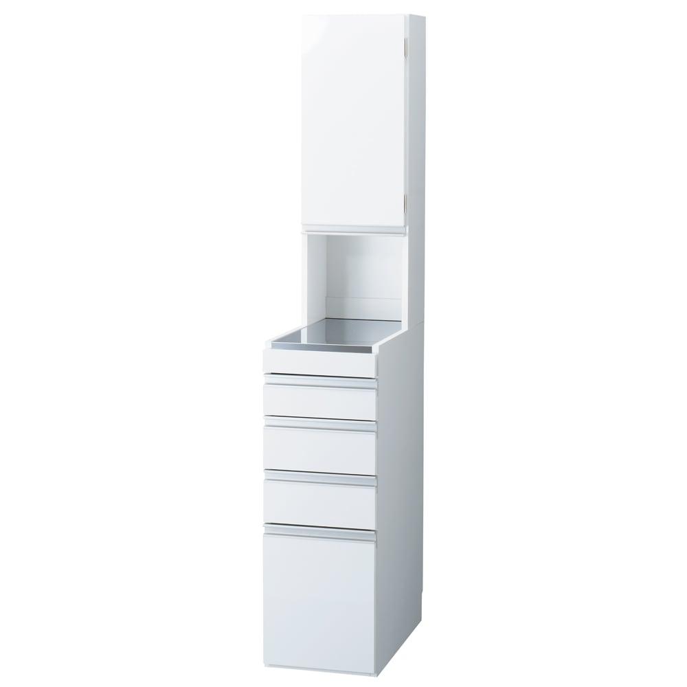 家具 収納 キッチン収納 食器棚 キッチン隙間収納 光沢仕上げダブルステンレス天板すき間収納庫 ハイタイプ高さ170cm 幅30cm 550447