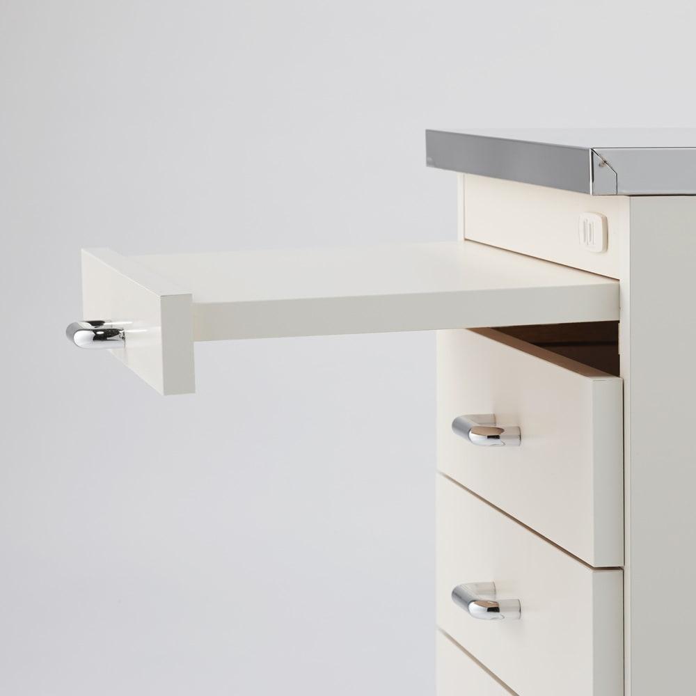 組立不要 ステンレス天板隙間収納 スライドタイプ 幅30cm・奥行55cm