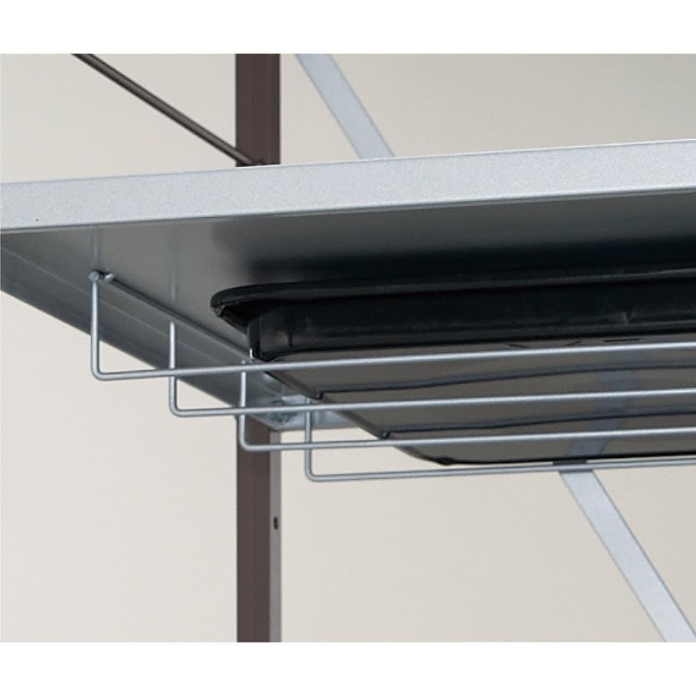 大型レンジ対応レンジボード ラック 幅60cm レンジ皿などの収納に便利な棚付き。