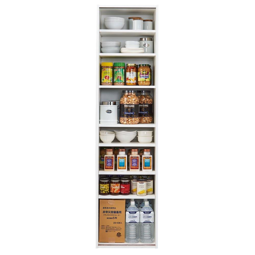 頑丈引き戸キッチンストッカー 幅46cm 収納イメージ