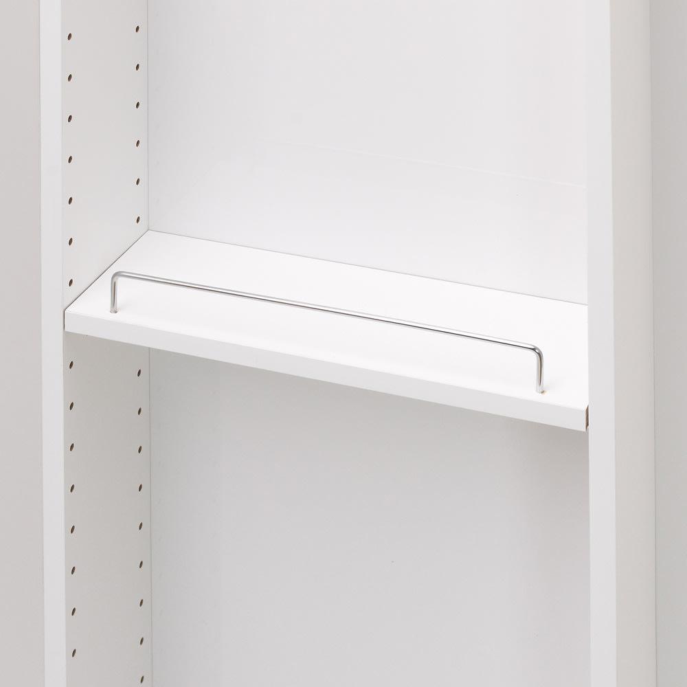 大容量なのに探しやすい!ドアポケット付きキッチンストッカー 幅45cm ドアポケット収納も、3cmピッチで可動するので、収納物に合わせて設置できます。
