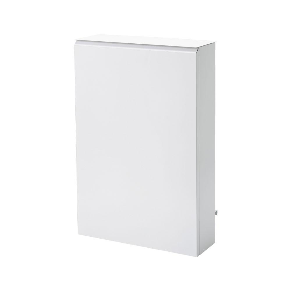 キッチン奥にも置ける 奥行スリムダストボックス 大 幅50cm・奥行18cm・高さ75.5cm (イ)ホワイト ホワイトは清潔感があり、空間が明るい印象になります。