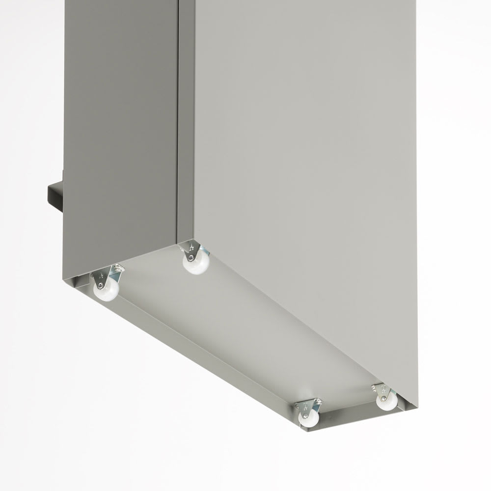 キッチン奥にも置ける 奥行スリムダストボックス 大 幅50cm・奥行18cm・高さ75.5cm 隠しキャスター付きで移動もスムーズ。