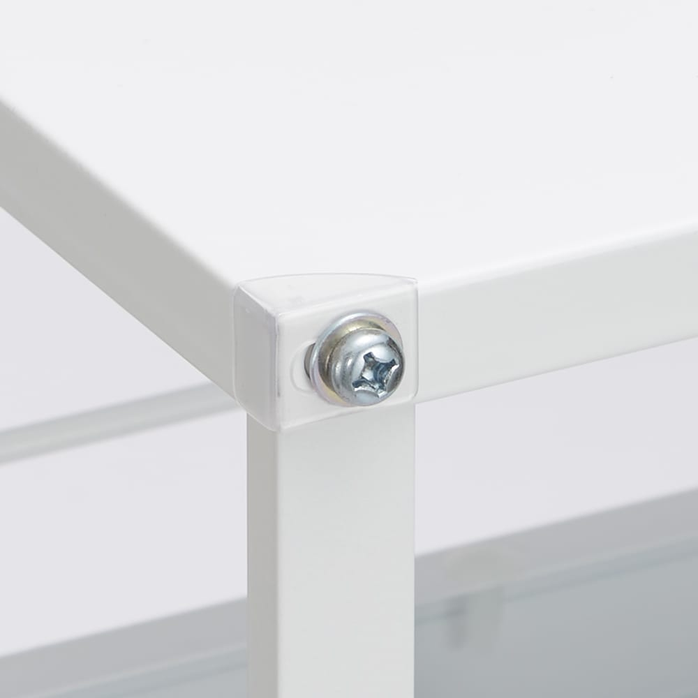 分別できるペール付きすき間ダスト収納 ロータイプ高さ85cm・4分別 幅40cm 天板の角には傷防止の透明カバー付き。 ※写真はハイタイプで撮影しております。ロータイプの天板はステンレスになります。