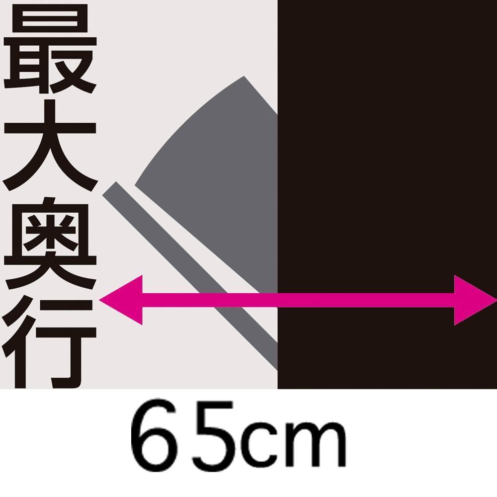 キッチンすき間収納 トールタイプダストボックス 2分別 オープン時最大奥行約65cm