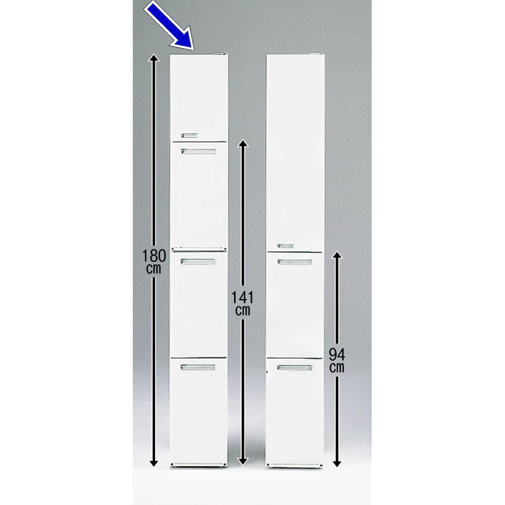 キッチンすき間収納 トールタイプダストボックス 3分別 狭いキッチンではスペースを縦に使う事が有効的です。