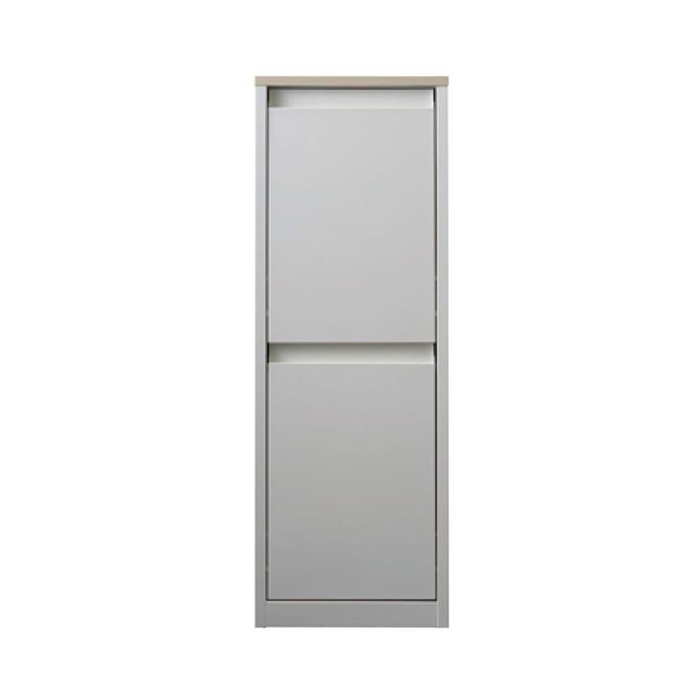 カラフルなペールでわかりやすく分別できる スチール製ダストボックス 幅32cm 高さ95cm (ア)ホワイト