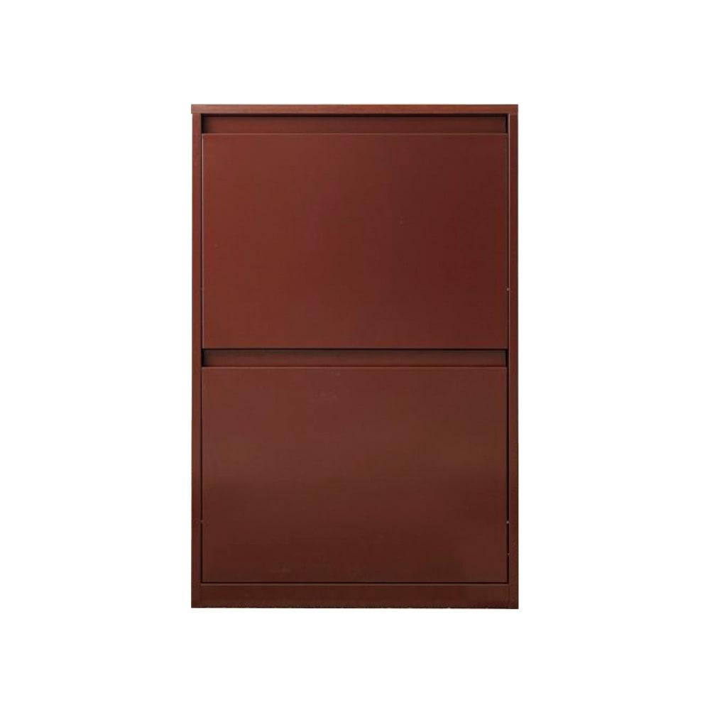 カラフルなペールでわかりやすく分別できる スチール製ダストボックス 幅60cm 高さ95cm (イ)ブラウン