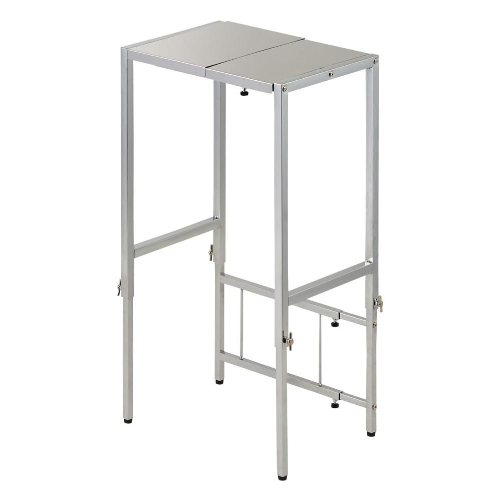 家具 収納 キッチン収納 食器棚 キッチン隙間収納 幅と高さが伸縮できるステンレス作業台 幅30~45cm 奥行30cm 550913