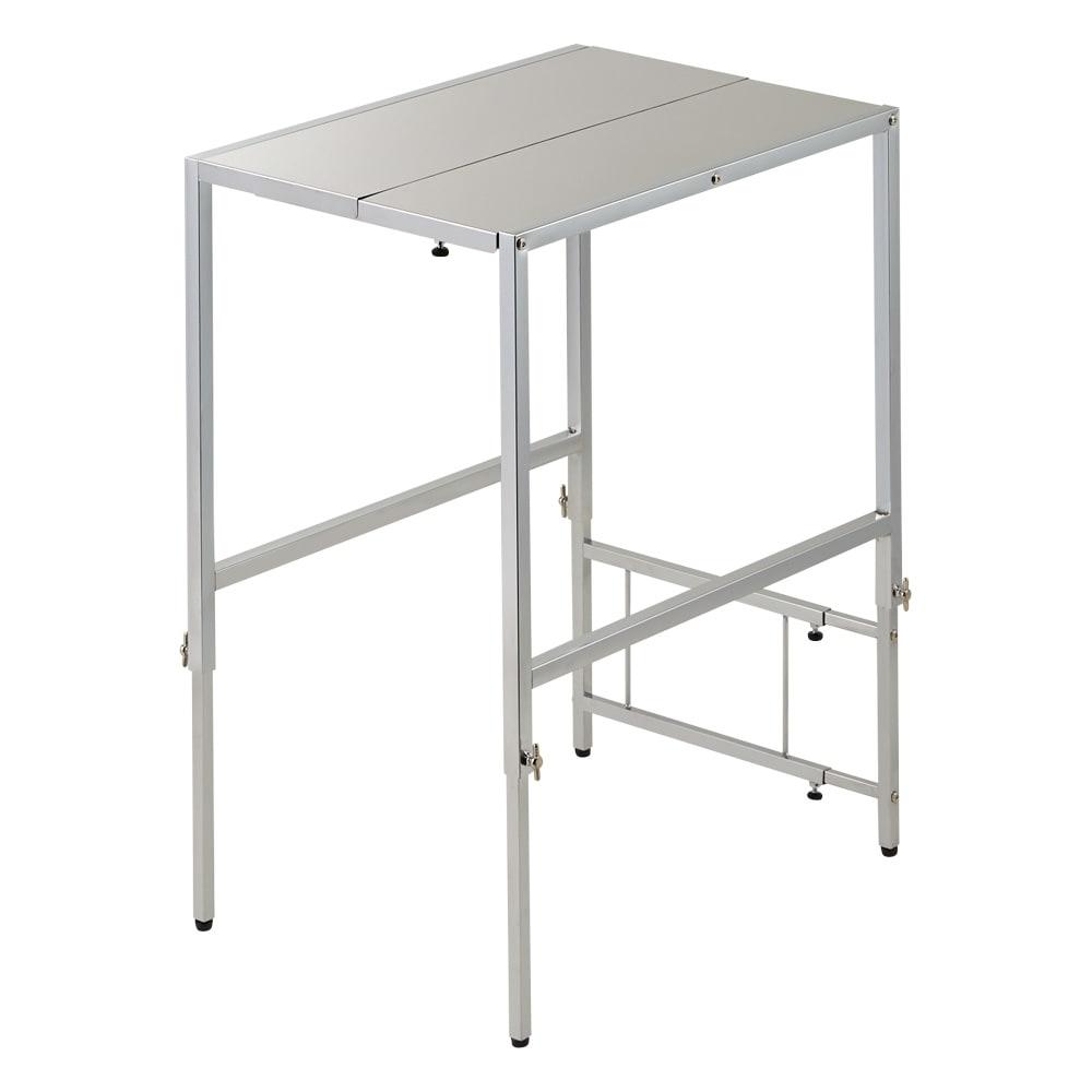 家具 収納 キッチン収納 食器棚 キッチン隙間収納 幅と高さが伸縮できるステンレス作業台 幅30~45cm 奥行60cm 550915