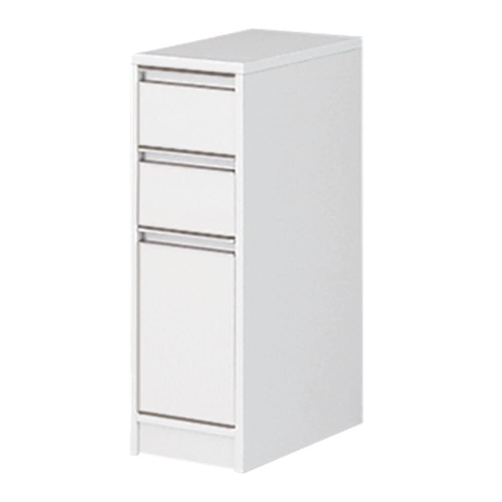 家具 収納 トイレ収納 洗面所収納 天板が使える すき間収納庫 ロータイプ・幅25cm 551350