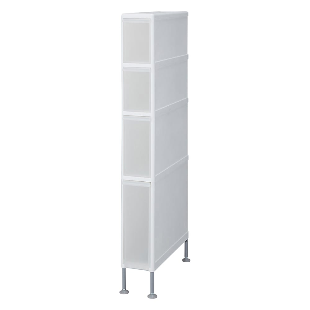 家具 収納 トイレ収納 洗面所収納 段差がまたげる隙間収納 アジャスター付きストッカー スリム中3深1 幅14高さ111cm 551449