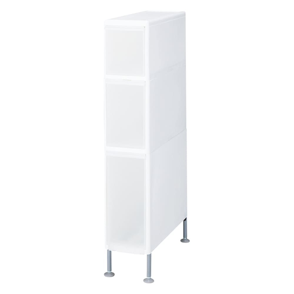 家具 収納 トイレ収納 洗面所収納 段差がまたげる隙間収納 アジャスター付きストッカー ミドル中2深1 幅17高さ92cm 551451