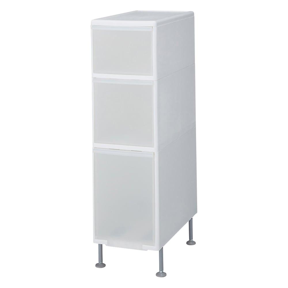 家具 収納 トイレ収納 洗面所収納 段差がまたげる隙間収納 アジャスター付きストッカー ワイド中2深1 幅25.5高さ92cm 551455