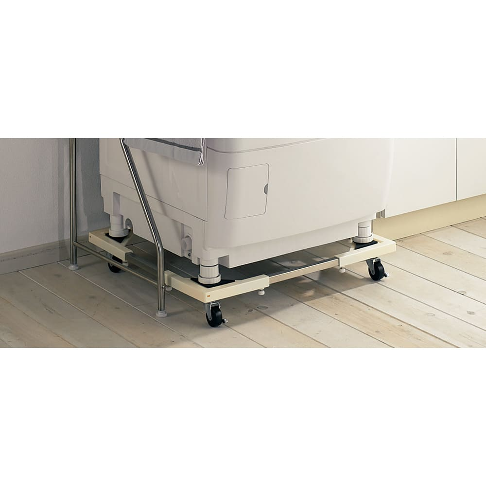 耐荷重約150kg ステンレス洗濯機置き台【洗濯機設置台】 洗濯機パンのない家におすすめです。