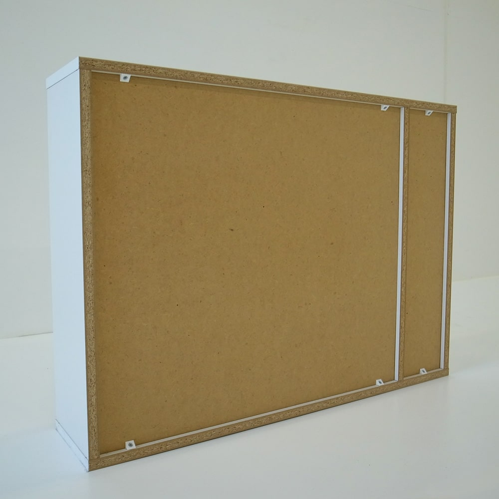 トイレ収納庫 引き戸タイプ 幅85cm・4段 (ア)ナチュラルの裏面