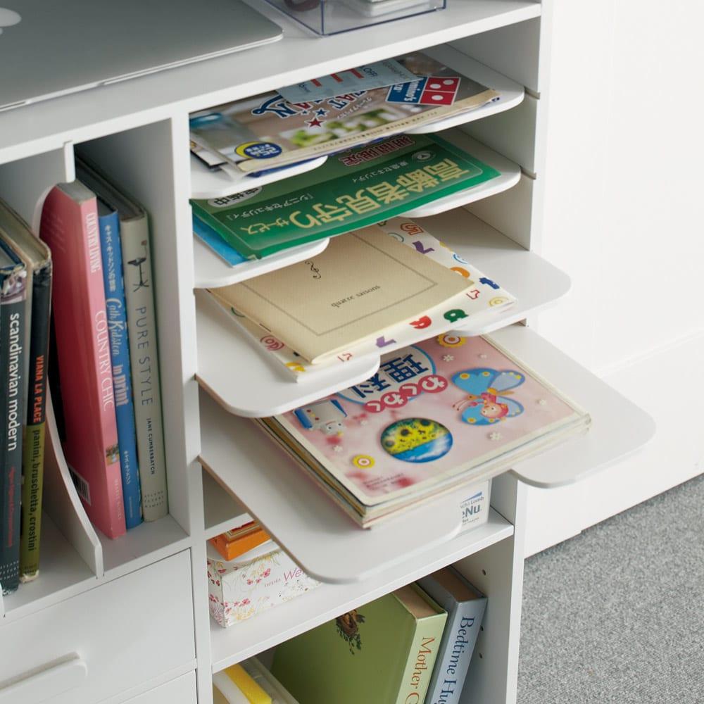 [国産] 塾や習い事の物までひとまとめワゴン(ランドセルラック) 子どもの教科書やプリント、ママのお便りなどの整理にも便利な分類収納棚。