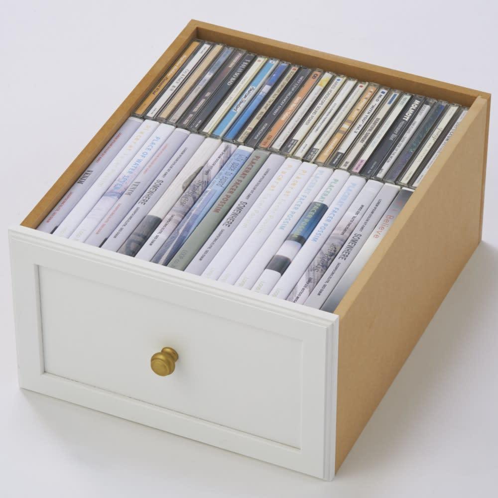シャビーシック風書類多段チェスト チェスト6段 CDやDVDは深引き出しに。