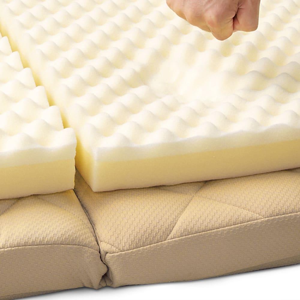3サイズから選べる!二段ベッド用洗えるカバーの三つ折りマットレス 低反発タイプ 低反発ウレタンが身体をしっかりとサポート。