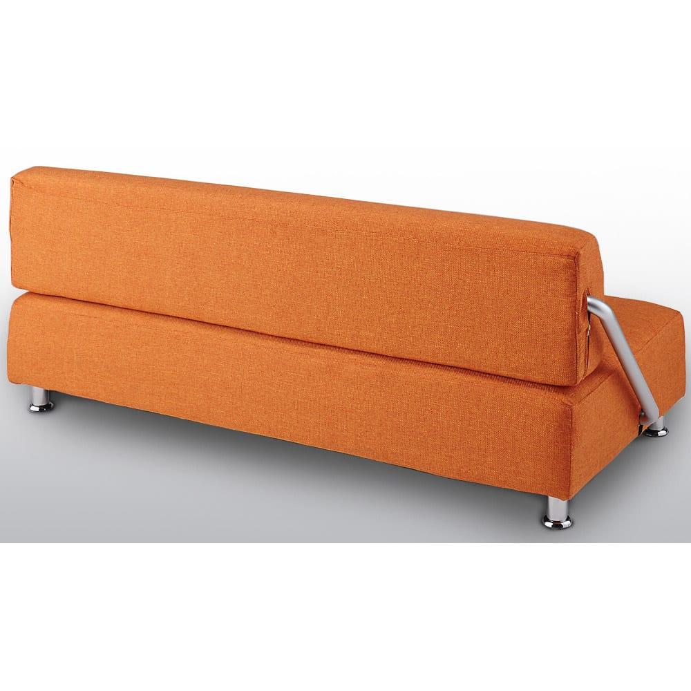 簡単にベットに変身!壁につけたまま使えるソファベッド 幅192cm (背面)背面も表と同じ張り地を使用しています。