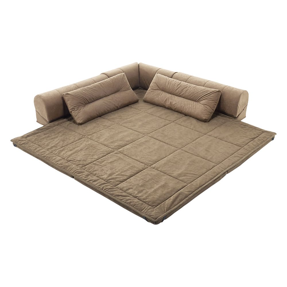 包まれるしあわせのクッション付きごろ寝ソファ 大(190×190cm) (ア)ナチュラル