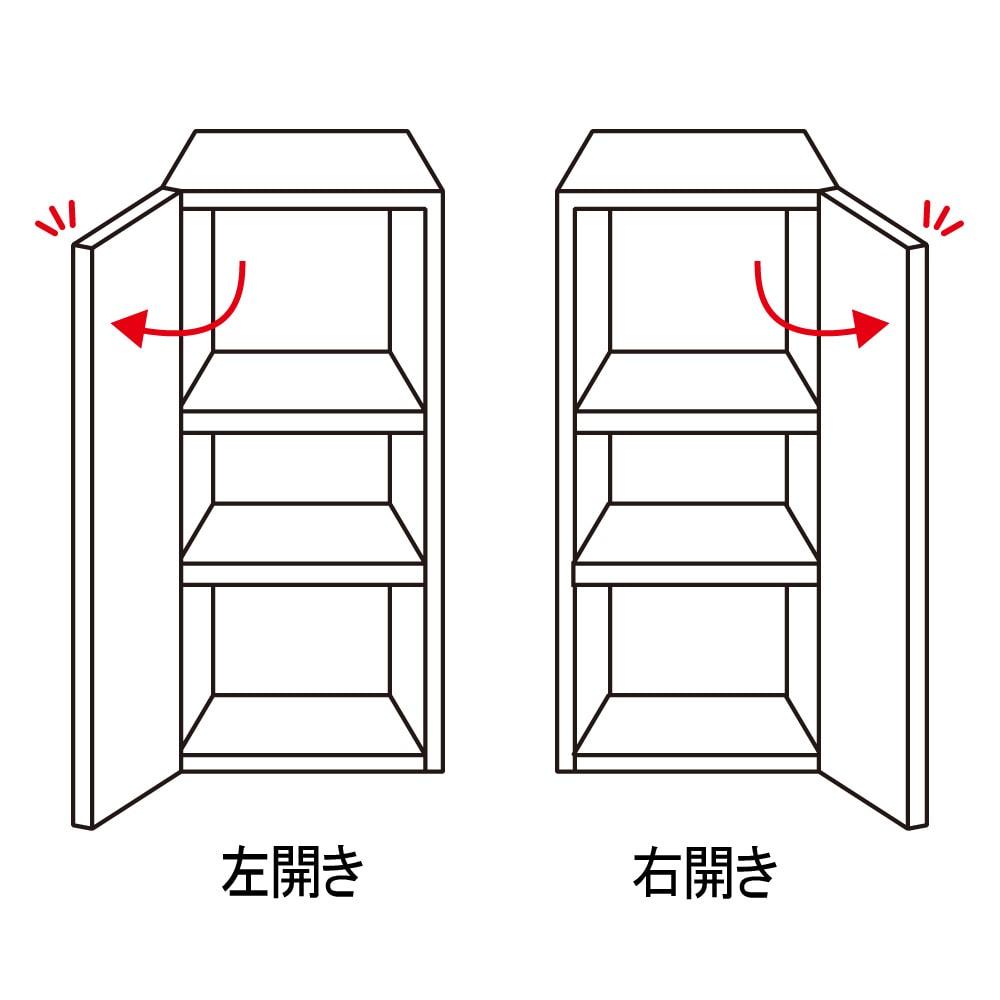 天然木調テレビ台ハイバックシリーズ 扉キャビネット・幅45.5奥行34.5cm 扉の開きを選べます。右開き・左開きのいずれかをご指定ください。