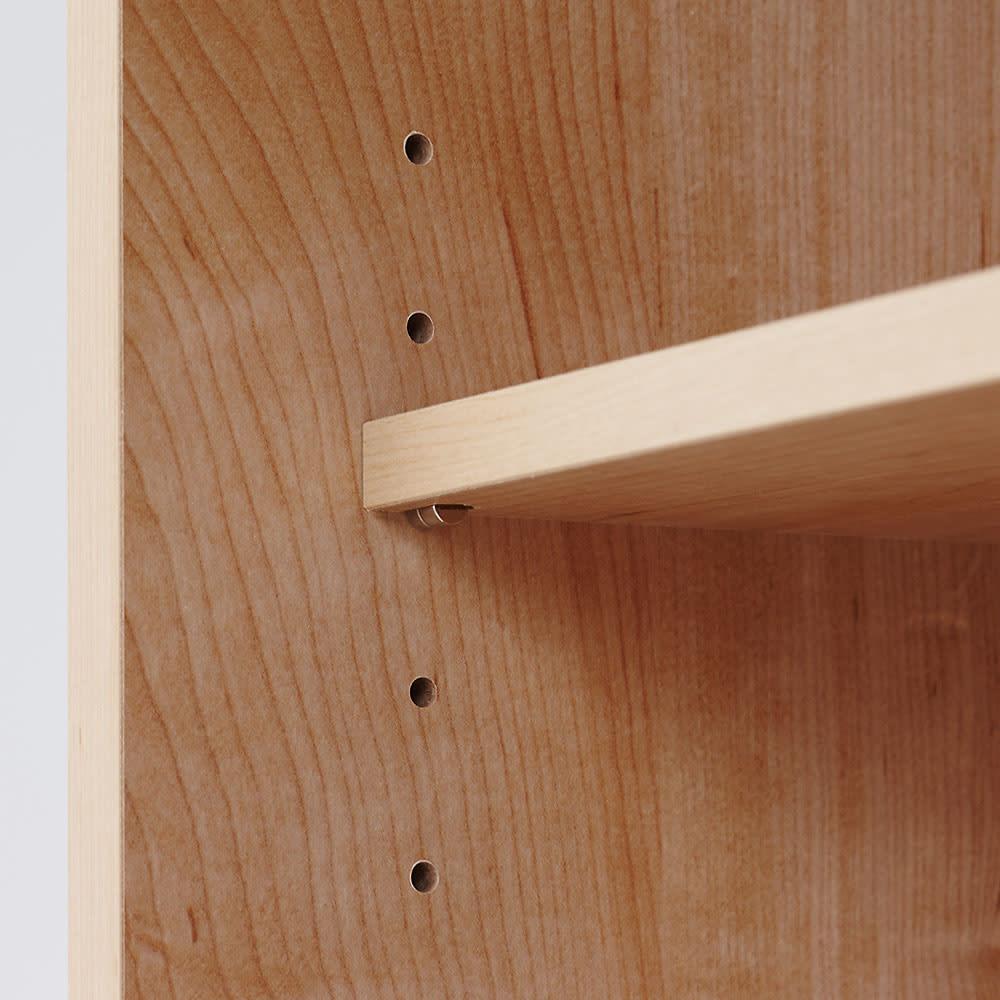 天然木調テレビ台ハイバックシリーズ オープンキャビネット・幅60.5奥行34.5cm 可動棚3枚付き。(※お届けの色とは異なります)
