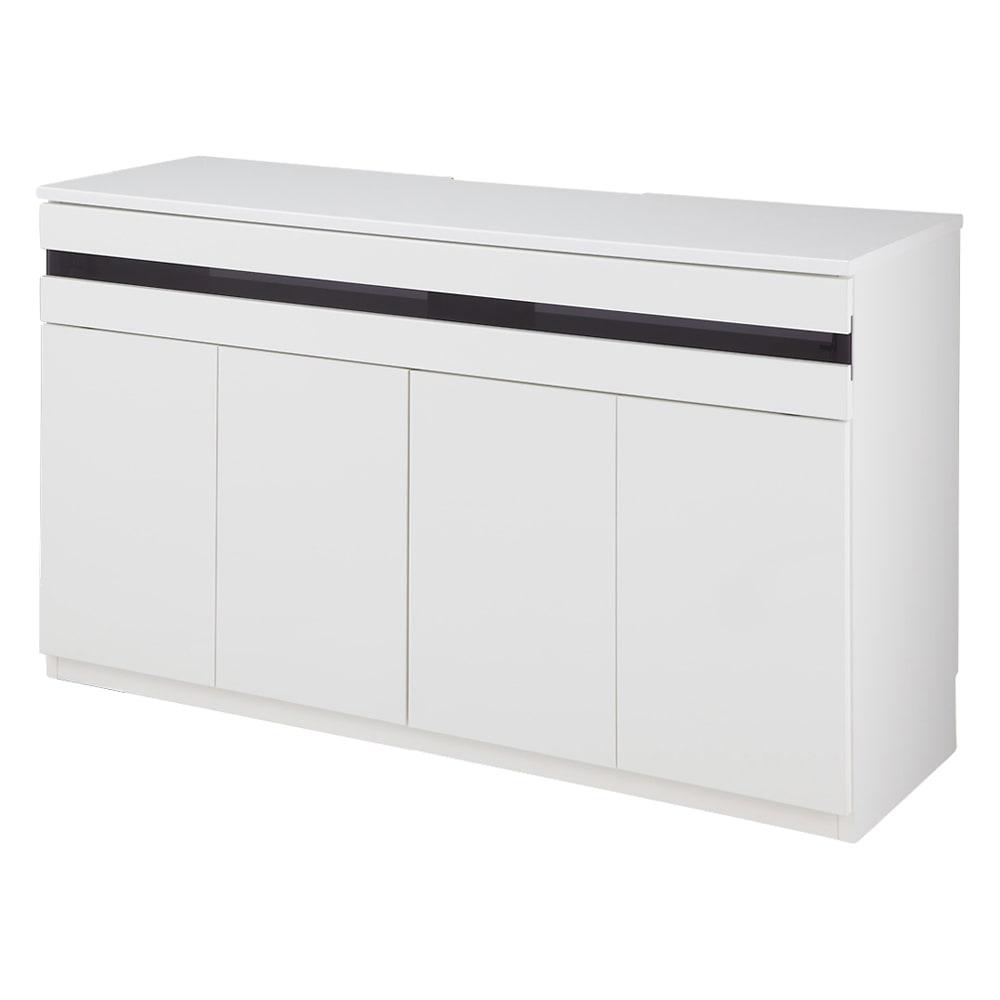 ラインスタイルハイタイプテレビ台シリーズ テレビ台・幅119cm (イ)ホワイト