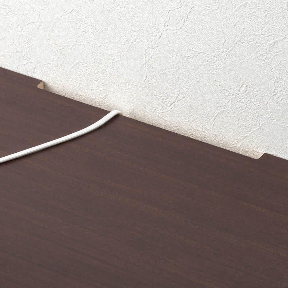 ラインスタイルハイタイプテレビ台シリーズ テレビ台・幅119cm 天板の奥から配線コードを通せます。