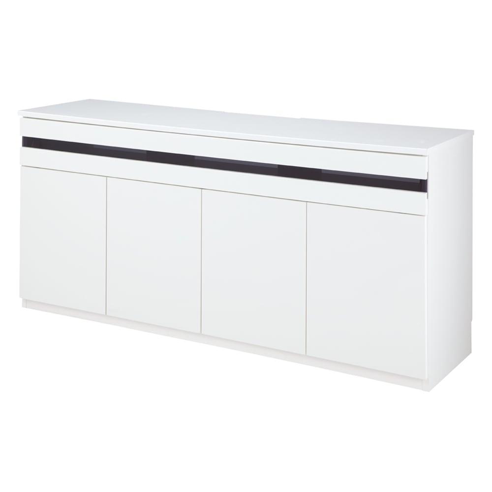 ラインスタイルハイタイプテレビ台シリーズ テレビ台・幅150cm (イ)ホワイト