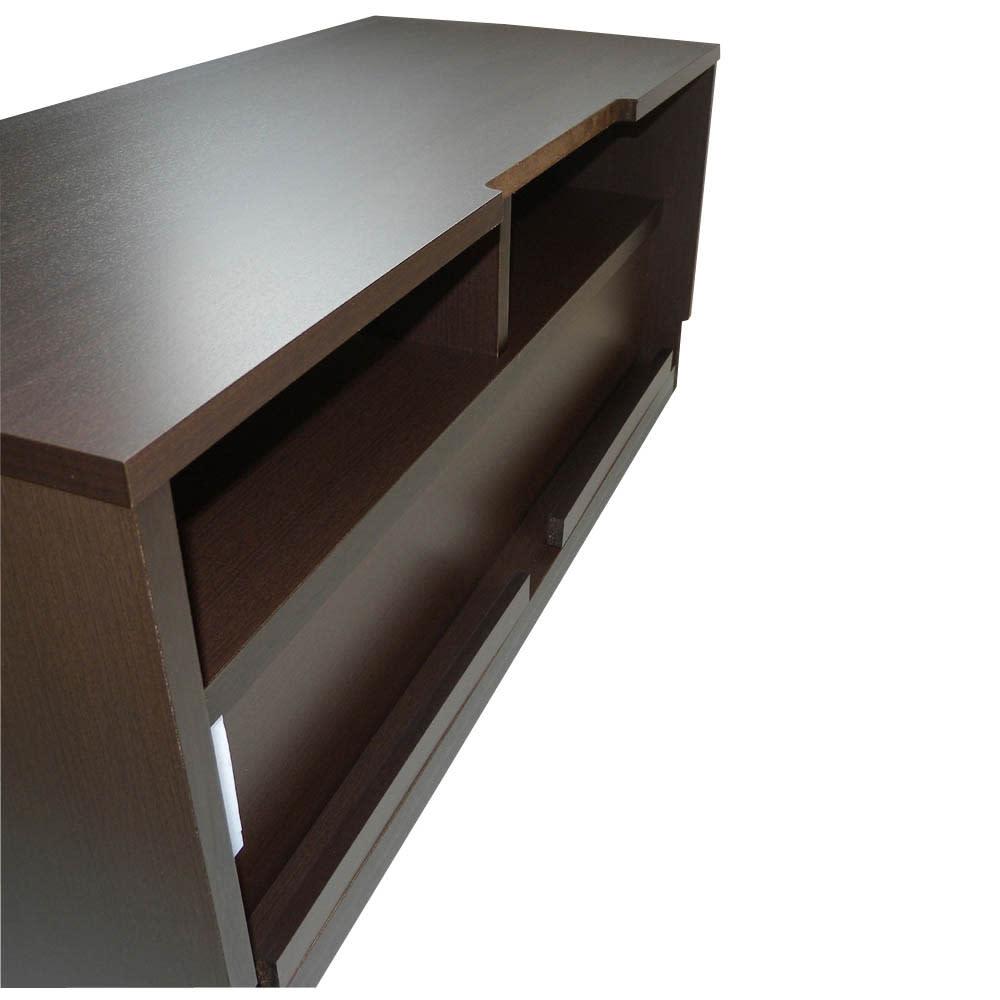ラインスタイルシリーズ テレビ台 幅99cm 【配線カット】 天板奥にはテレビの配線を通す配線用のカットがあるので壁にぴったり設置しても問題ありません。